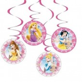 4 Espirais Decorativas Princesas Disney