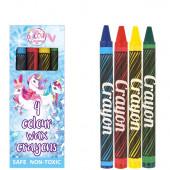 4 Mini Lápis Cera Unicórnio