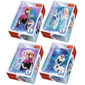 4 Mini Puzzles Frozen 54 peças