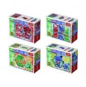 4 Mini Puzzles PJ Masks 20 peças