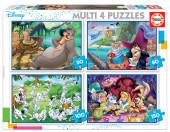4 Multi Puzzles Clássicos Disney