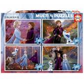 4 Multi Puzzles Frozen 2