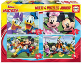 4 Multi Puzzles Mickey & Friends