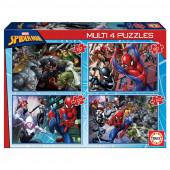 4 Multi Puzzles Spiderman