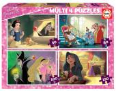 4 Multi Puzzles Vilãs Disney