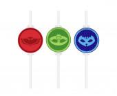 4 Palhinhas Papel PJ Masks