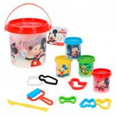4 Plasticinas Mickey + Moldes + Acessórios