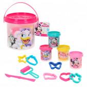 4 Plasticinas Minnie + Moldes + Acessórios
