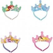 4 Tiaras festa Mix Princesas Disney