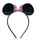 4 Tiaras Minnie Mouse - Laço rosa