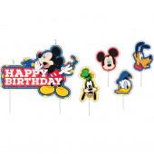 4 Velas aniversário  Mickey e Amigos