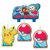 4 velas Pokemon