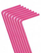 40 Palhinhas Flexiveis Rosa