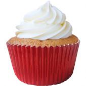 45 Cápsulas Cupcake Vermelhas