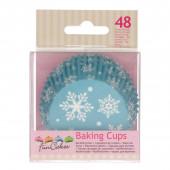 48 Cápsulas Cupcake Flocos de Neve