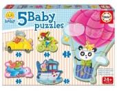 5 Baby Puzzles Animais ao volante 17141