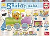 5 Baby Puzzles Comboio dos Animais 17142