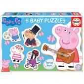 5 Baby Puzzles Porquinha Peppa