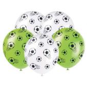 5 Balões Futebol Sortidos 30cm