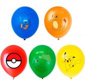 5 Balões Latex Pokémon