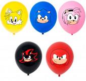 5 Balões Latex Sonic The Hedgehog