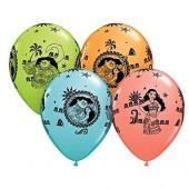 5 Balões Latex Vaiana 11