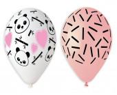 5 Balões Panda Rosa 33cm