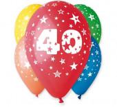 5 Balões Premium Látex Nº 40 - 30cm