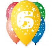 5 Balões Premium Látex Nº 6 - 30cm