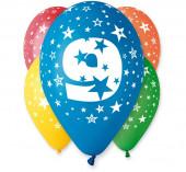 5 Balões Premium Látex Nº 9 - 30cm