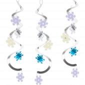 5 Espirais Decorativas Flocos de Neve