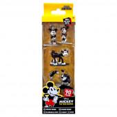 5 Figuras Nano Metalfigs Mickey Disney 4cm
