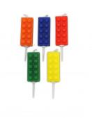 5 Velas Aniversário Lego Party
