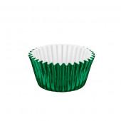 50 Mini Cápsulas Brigadeiro Verdes Metalizadas