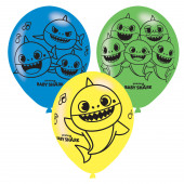 6 Balões Baby Shark