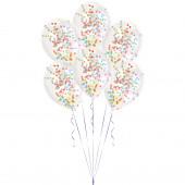6 Balões Confettis Coloridos 11