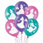 6 Balões das Princesas Disney sortido