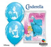 6 Balões Latex Cinderela Princesas