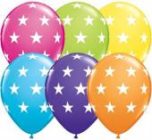 6 Balões Latex Estrelas Sortidos