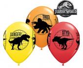 6 Balões Latex Jurassic World
