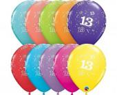 6 Balões Látex Nº 13 Sortidos