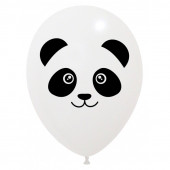 6 Balões Latex Panda