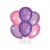 6 Balões Latex Princesa Sofia