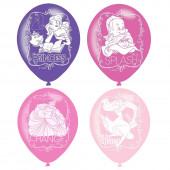 6 Balões Latex Princesas Disney