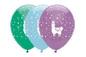 6 Balões Llama Party Sortidos