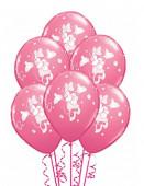6 Balões Minnie - Rosa Pastel