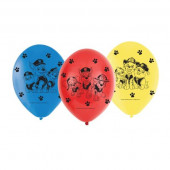 6 Balões Patrulha Pata 23cm