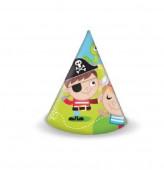 6 Chapéus de festa Pirata Caça ao tesouro