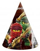 6 Chapéus Festa Lego Ninjago