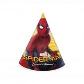 6 Chapéus Festa Spiderman Homecoming